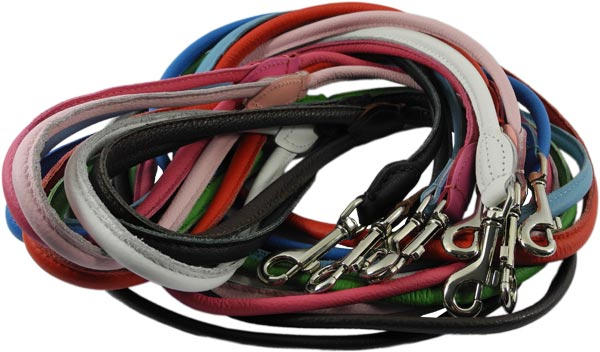 LeRoiy Soft Dog Leather Leads