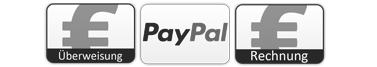 Payment Logos for Paypal, Bill, Amazon Pay