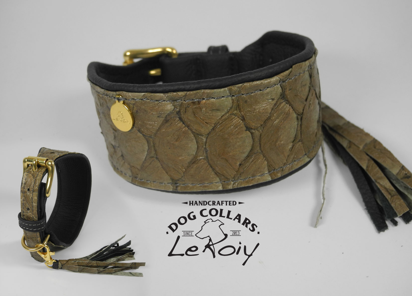 Real Leather - Buckle Brass - Brown